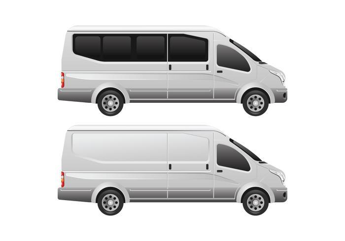 Minibus Vector Template