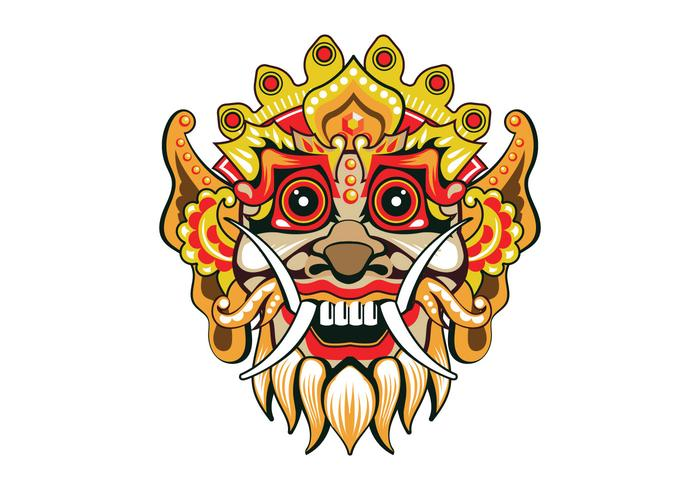 Vecteur de masque Fun Barong