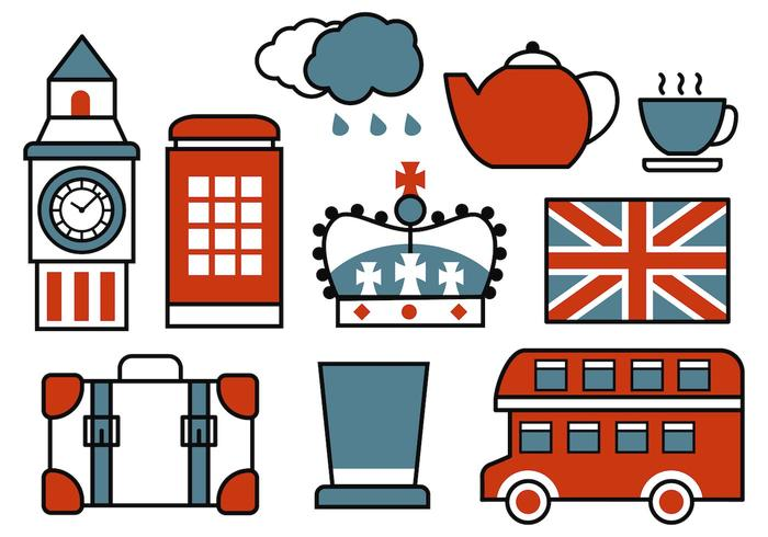 Free Retro British Icons Vector