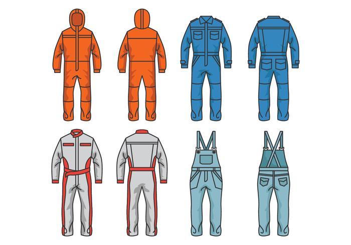 Overalls en Jumpsuit Vectors