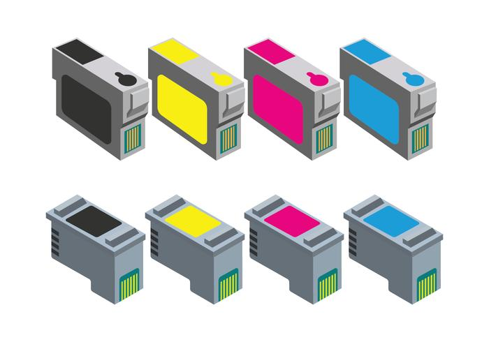 Inktcartridge Pictogrammen vector