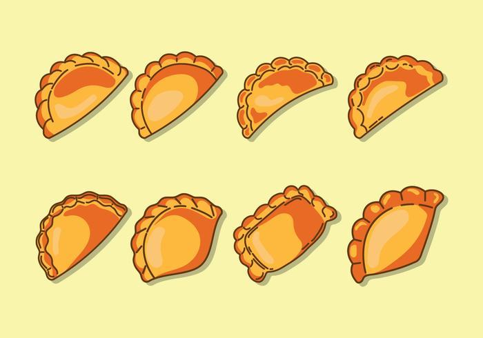 Empanadas ikoner vektor