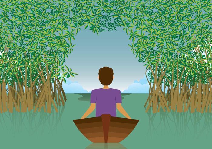 Gratis Mangrove Illustratie vector