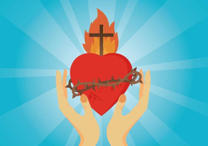 Free Sacred Heart Illustration
