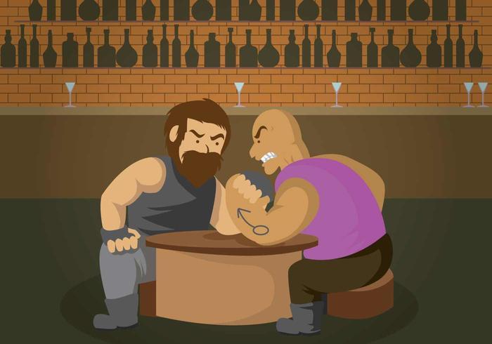 Gratis Arm Wrestling Illustratie