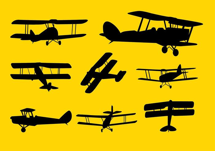 Biplane Cessna Vector