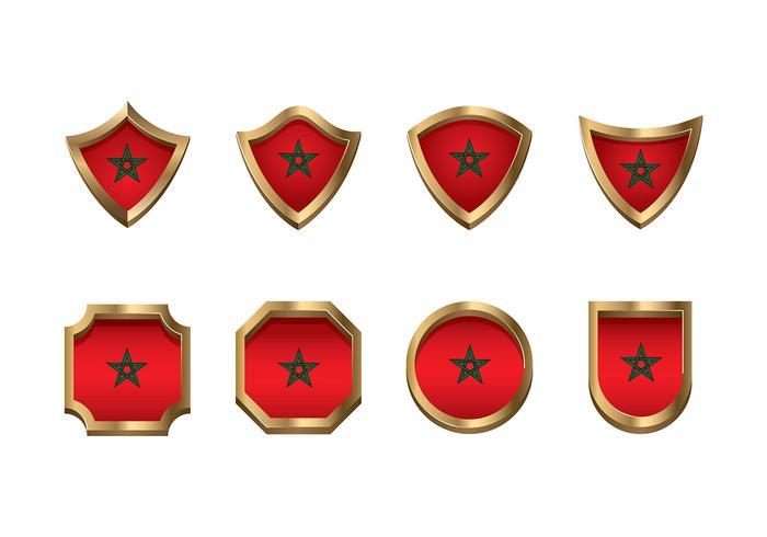 Maroc Flag Icon Set Vector