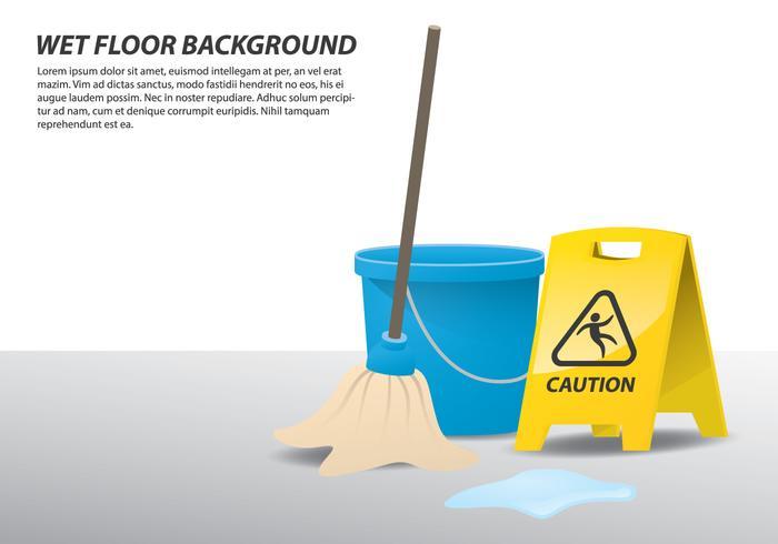 Ilustración de piso húmedo