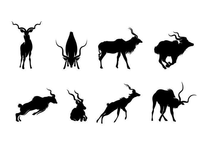 Vecteur silhouette kudu