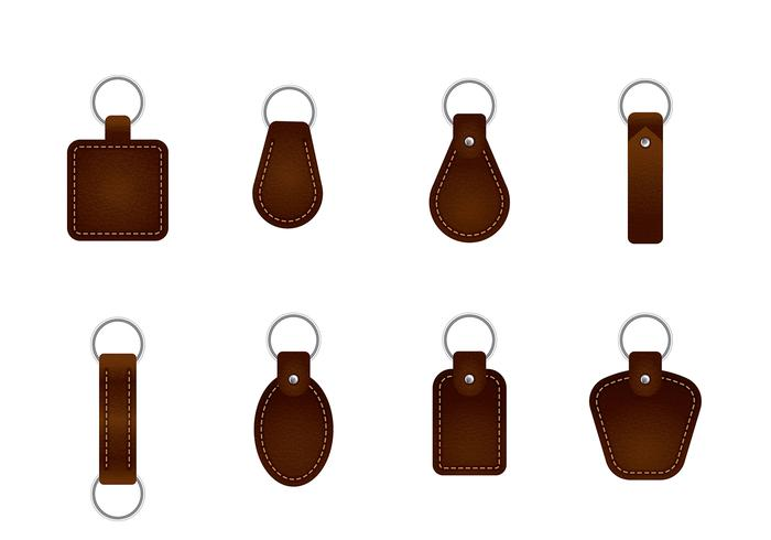Leather Key Chain Vectors
