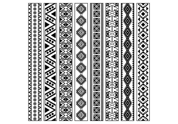 Huichol Pattern Vector