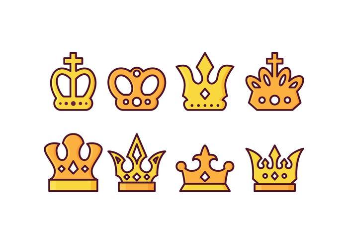 Pacote livre de vetores britânicos da coroa