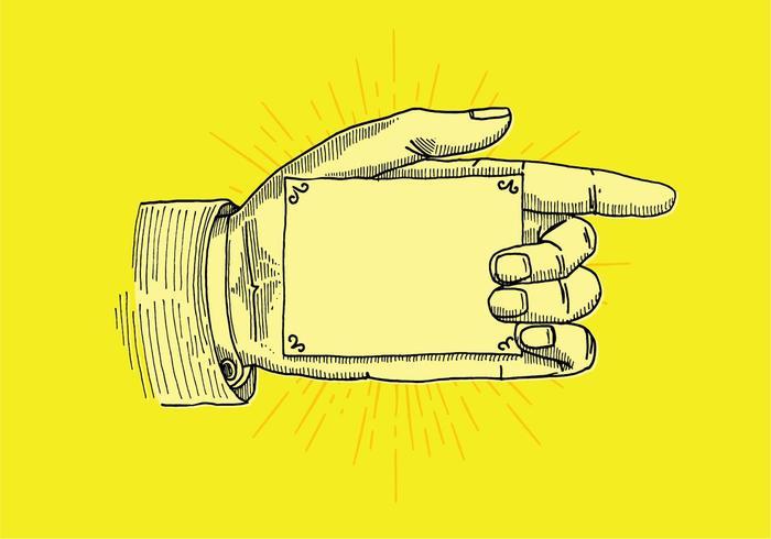 Art Line Qatar : Pointer hand sign download free vector art stock