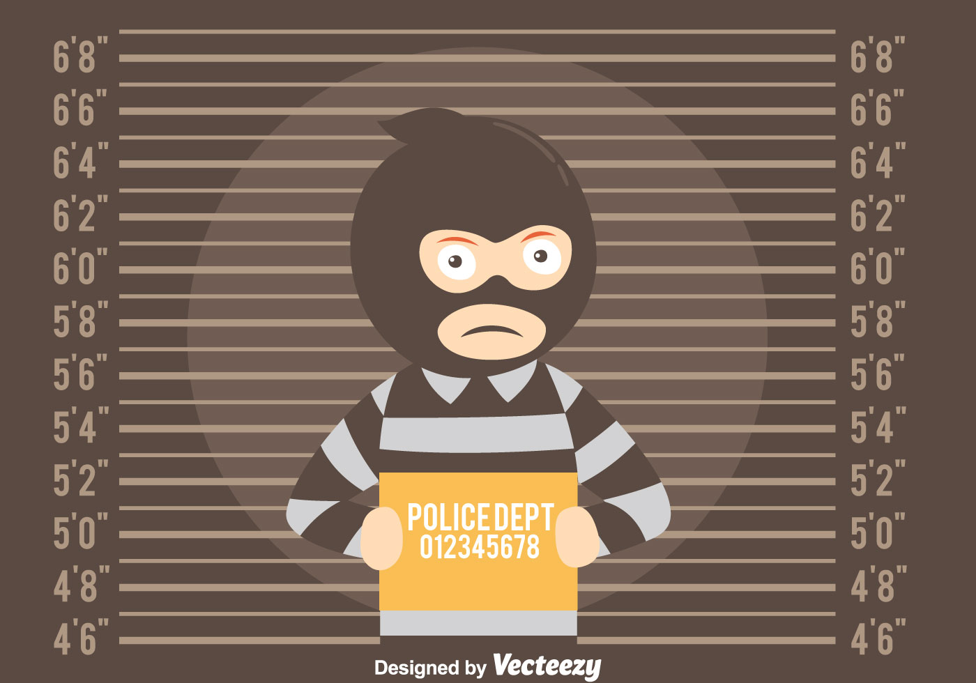 mugshot background with thief vector