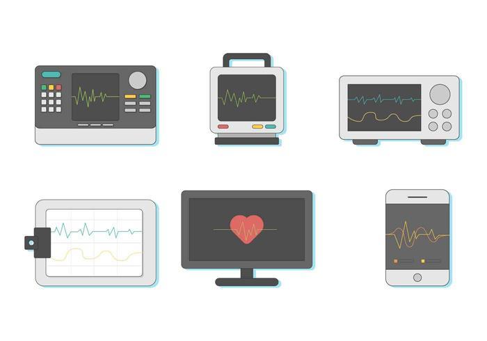 Gratis hjärtmonitor vektor