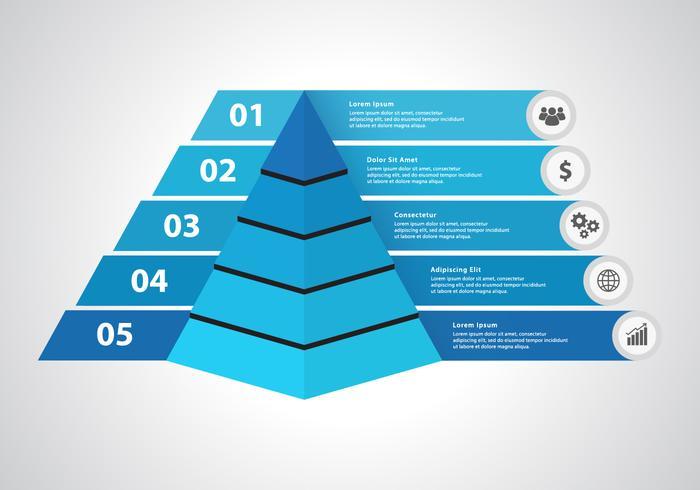 Vecteur infographique pyramidal gratuit