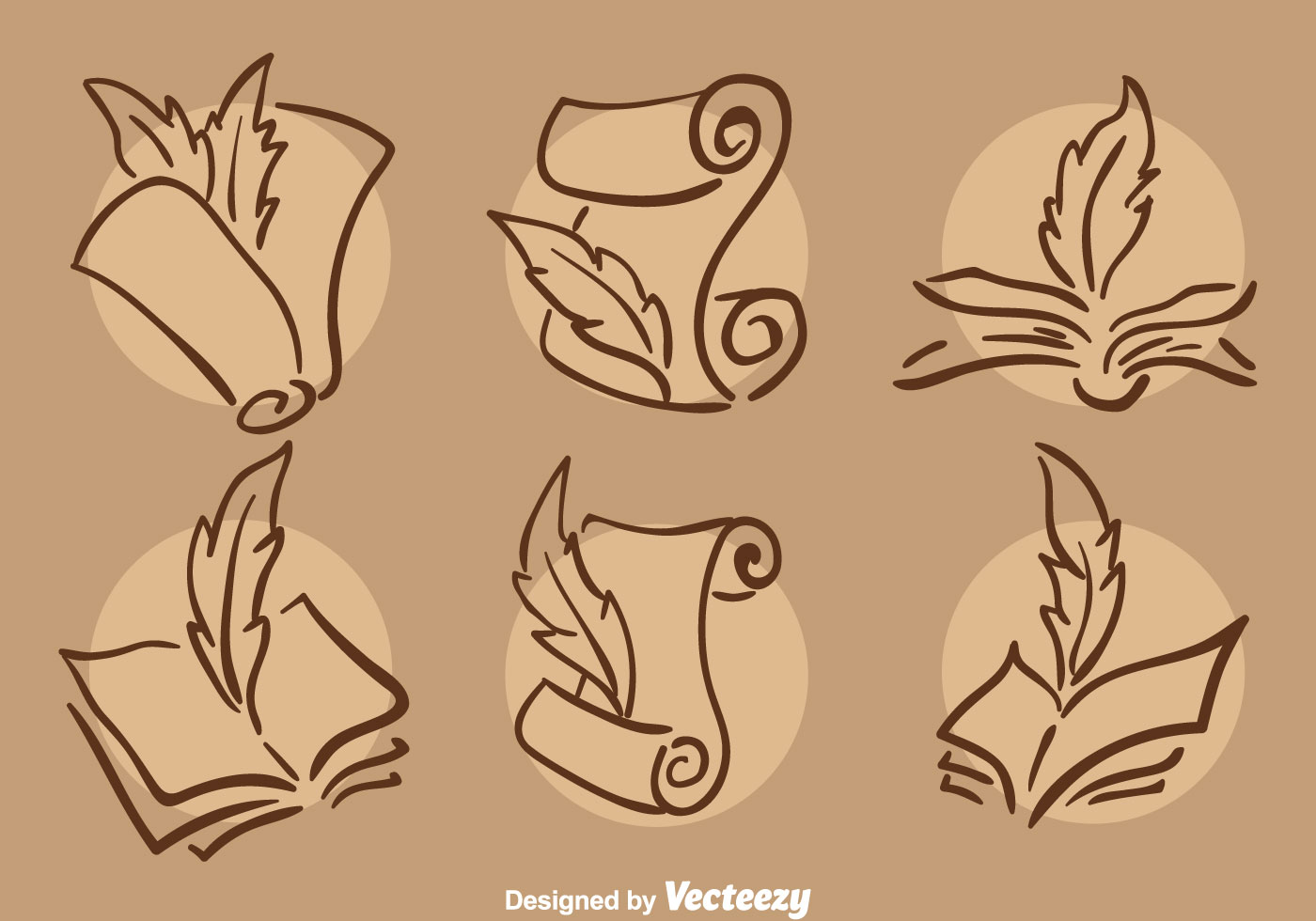 Free Vector Illustration Juniper: Classic Writing Poem Icons Vector
