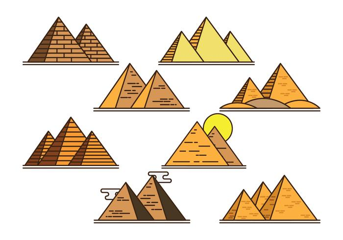 Piramide Vector Iconos