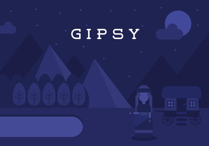 Gipsy Landscape Background