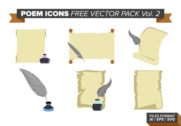 Ícones de poemas pacote de vetores grátis vol. 2
