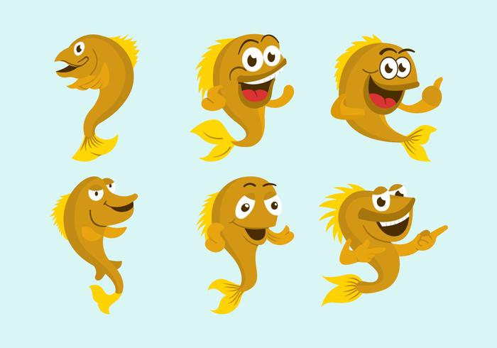 Walleye cartoon vector illustration