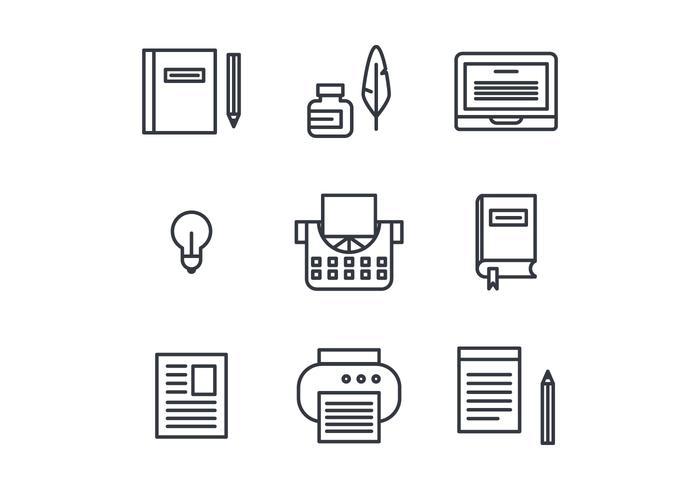 Berättande uppsättning ikoner vektor