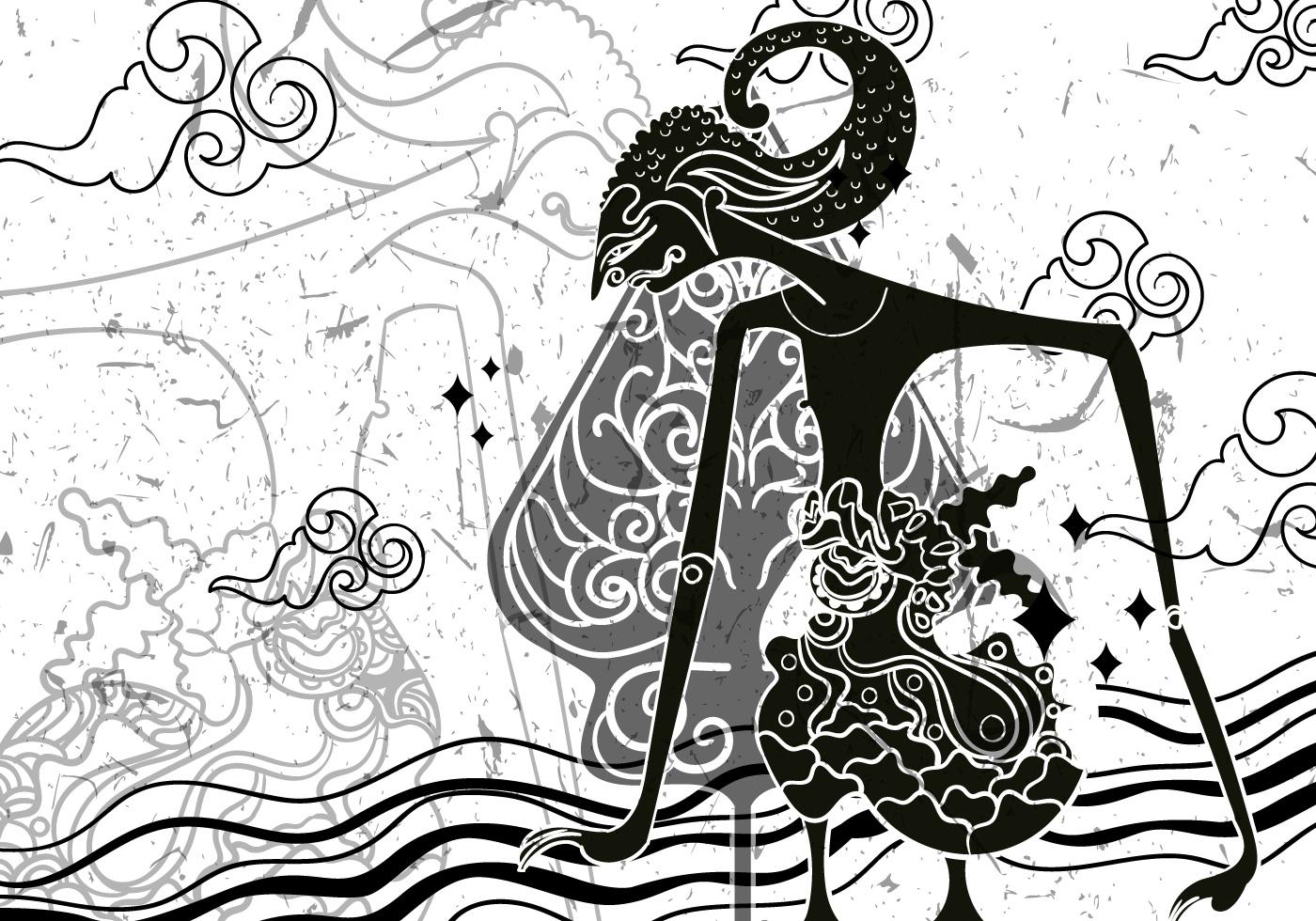 Wayang Gunungan Illustration