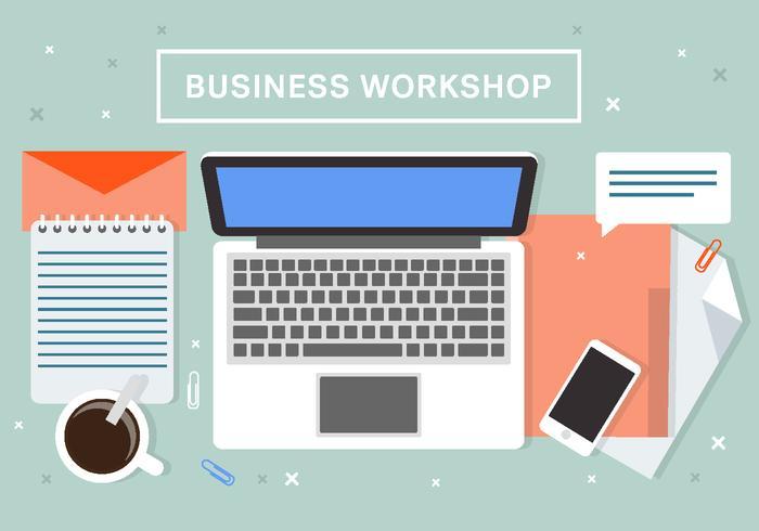 Business Workshop Vector Background
