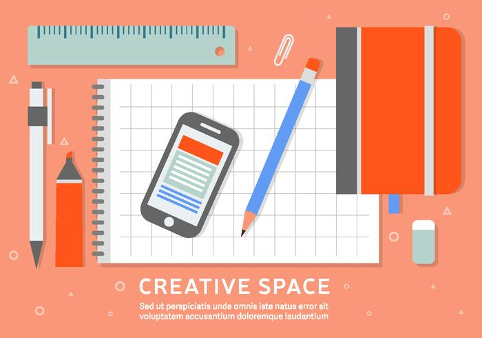 Free Business Workspace Vector Achtergrond