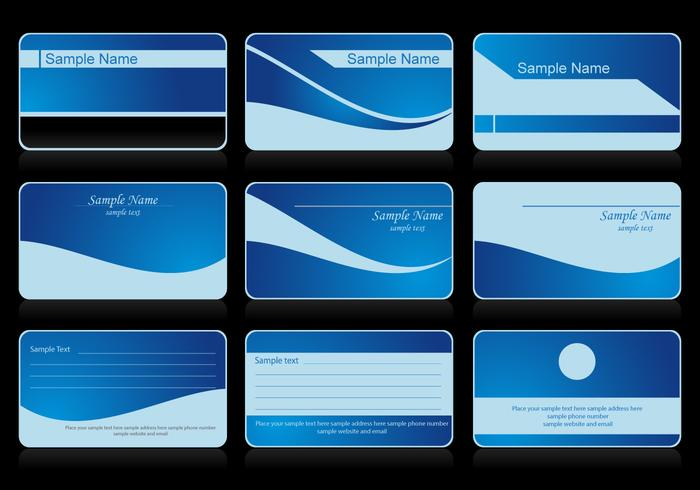 Vector Business Card Blue
