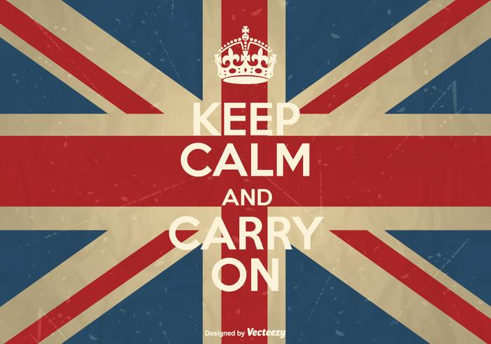 Vector Keep Calm And Carry On Poster