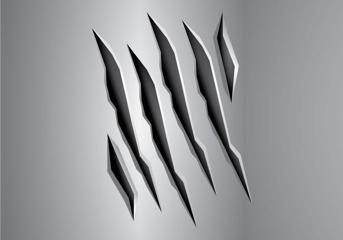 Free Metal Tear Vector Illustration