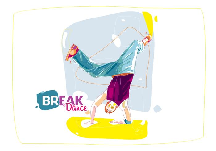 The Colorful Break Dance vector