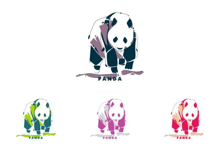 Panda i Popart Porträtt vektor