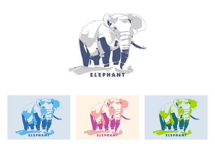 Elephant in popart portrait