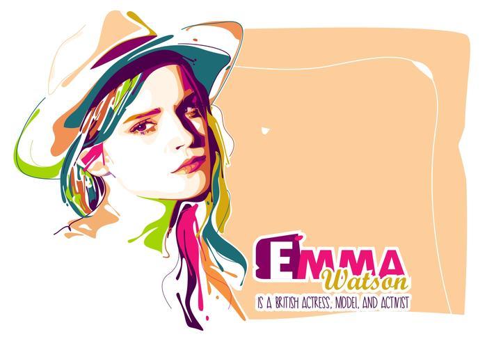 Emma Watson in Popart Porträt