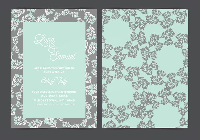 Vector Wedding Invitation