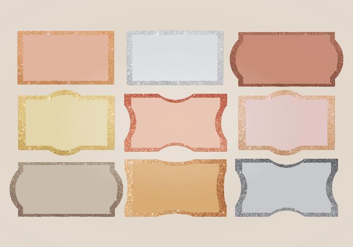 Vector Glitter Edges Labels