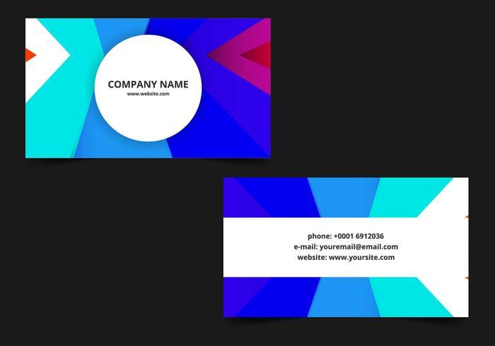 Vetor livre cartão de visita colorida