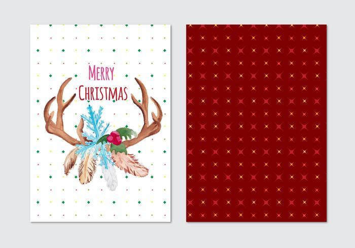 Navidad Tarjeta Vector Libre
