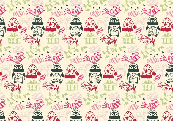 Christmas Pattern Free Vector With Christmas Elements
