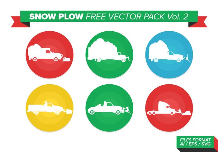 Snow Plow Free Vector Pack Vol. 2