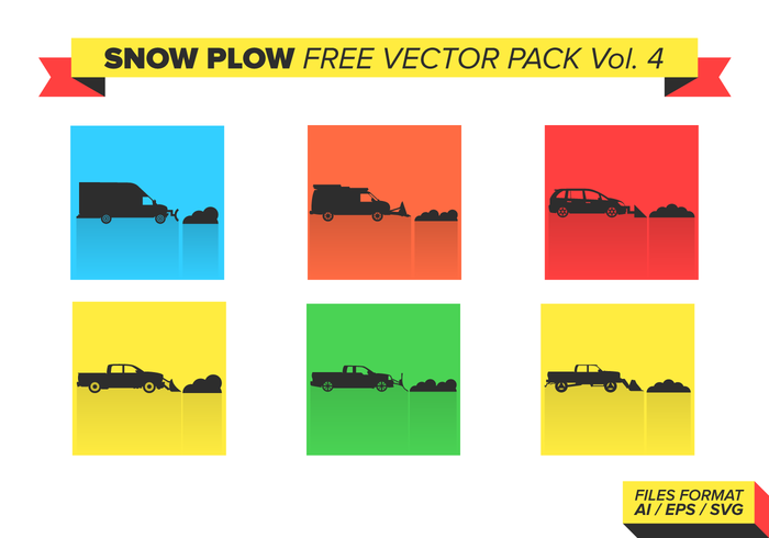 Snow Plow Free Vector Pack Vol. 4