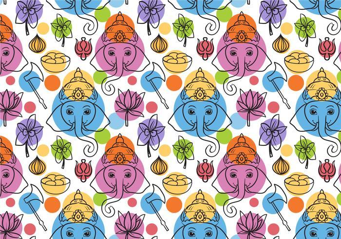Free Ganesha Pattern Vectors