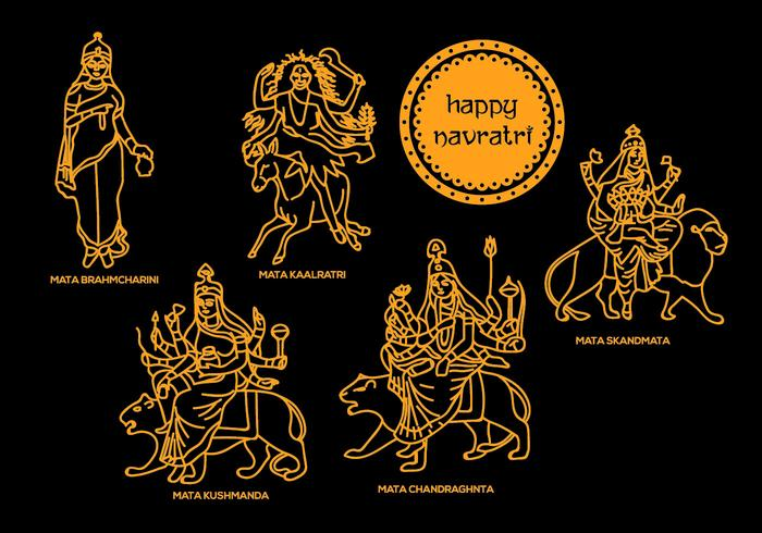 Navratri Vector Illustrations 1