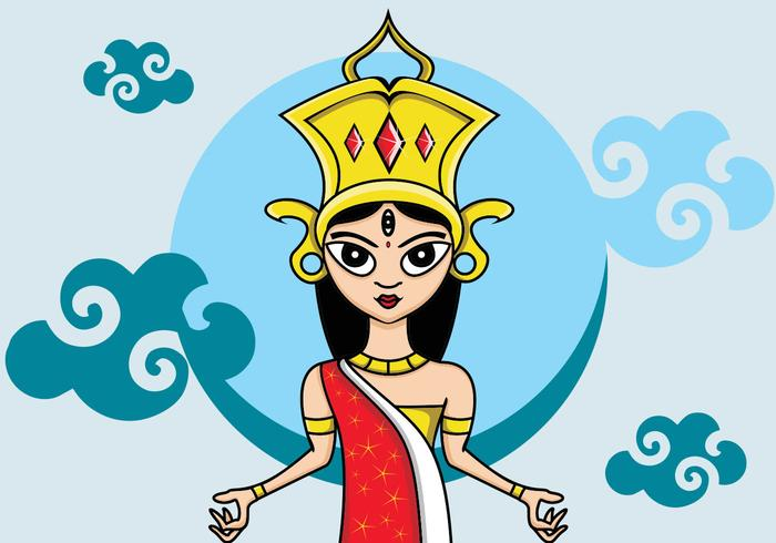 Illustration Of Durga
