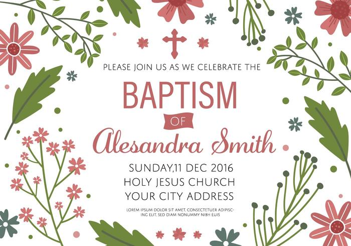 Free Baptism Invitation Template Vector  Invitation Template
