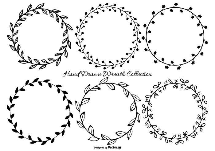 Cute Hand Drawn Wreath Frames vector
