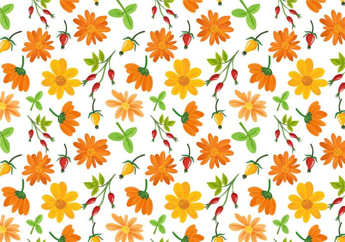 Free Flowers Pattern Vectors