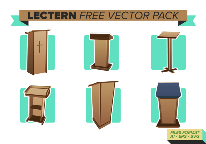 Lectern Free Vector Pack